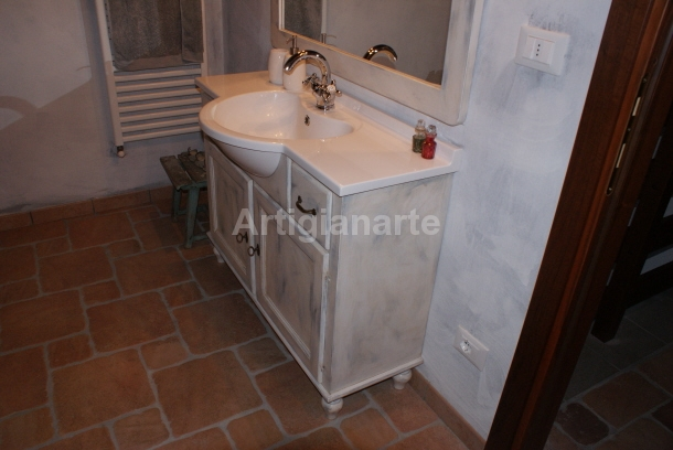 Mobile bagno grey artigianarte - Mobile bagno provenzale ...