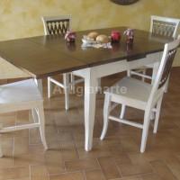 tavolo 100x100 bicolore aperto 100x180