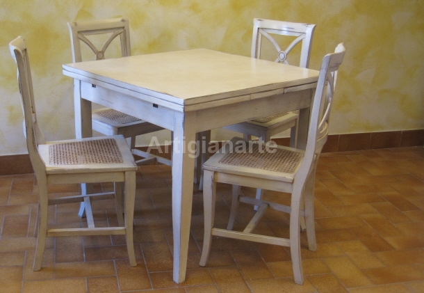 Stunning tavolo 80x80 allungabile gallery home design for Table extensible quadrato