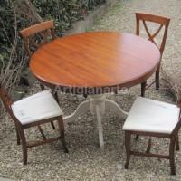 tavolo tondo gambo liscio 1