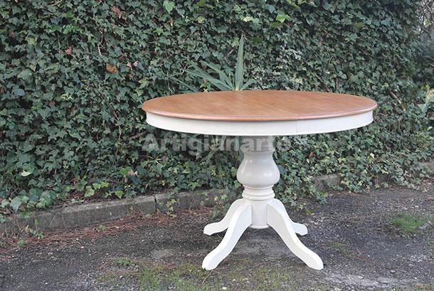tavolo-tondo-gambone-liscio-bicolor