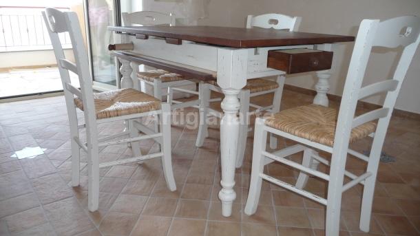 Tavolo attrezzato artigianarte for Tavoli bianchi moderni