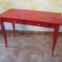 scrittoio rosso 120x60