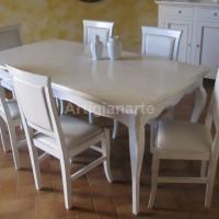 tavolo provenzale bianco invecchiato