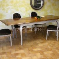 tavolo provenzale bicolore con poltroncine (5)