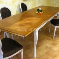 tavolo provenzale bicolore con poltroncine (6)