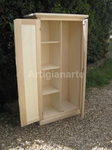 Armadietti in legno economici idee per la casa for Mobili grezzi da verniciare
