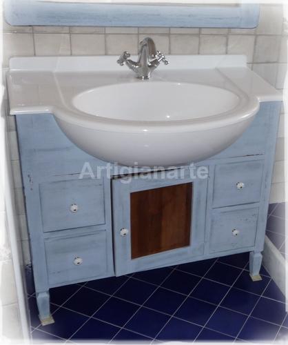 Mobile bagno decapè - Artigianarte