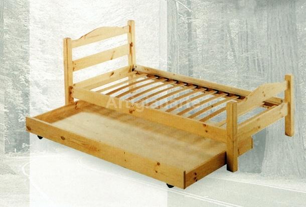 Letto singolo andrea artigianarte - Letto singolo legno ...