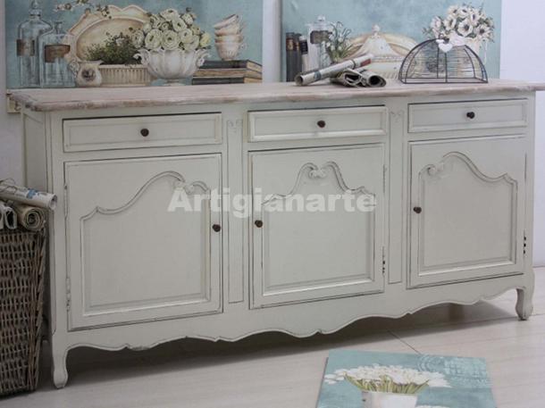 Credenza provenzale bianca annette for Mobili provenzali grezzi