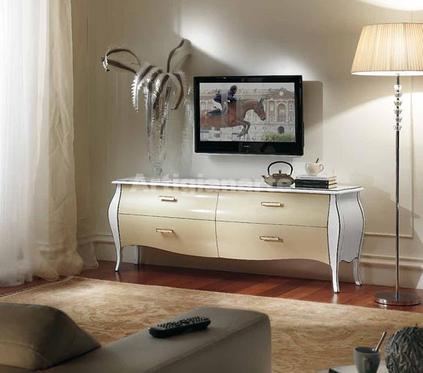 Mobile Porta Tv Contemporaneo.Porta Tv Bombato Maxi Artigianarte