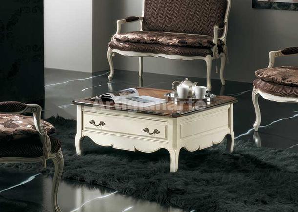 Tavolino quadrato ciliegio da salotto in massello di ciliegio for Mobili provenzali grezzi