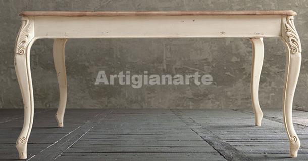 Tavolo bicolore foglia - Stile provenzale - Artigianarte