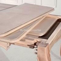 tavolo provenzale foglia stile provenzale artigianarte. Black Bedroom Furniture Sets. Home Design Ideas