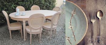 tavolo in legno grezzo