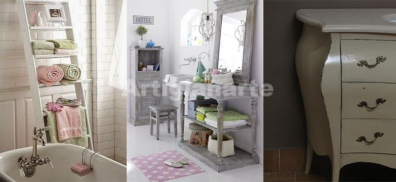 Scegli un mobile bagno colorato provenzale o country - Mobili da bagno shabby chic ...