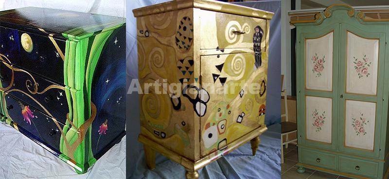 Mobili dipinti a mano e decorati come li hai sempre desiderati - Decoupage su mobili vecchi ...