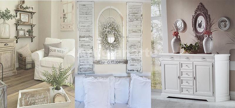 Straordinari mobili per un soggiorno shabby chic da favola for Mobili provenzali grezzi