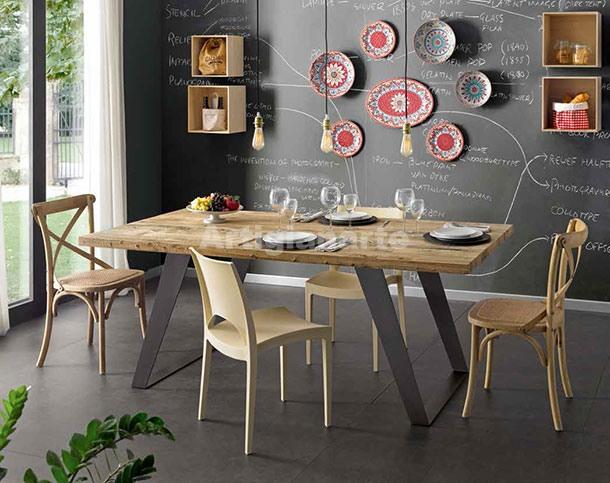 Tavolo Industriale Quadrato : Tavolo industriale geo artigianarte