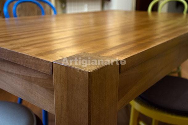 Tavolo Moderno Gamba Quadra Artigianarte
